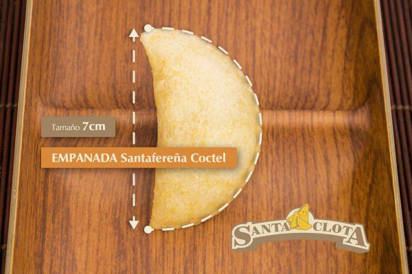 Medidas de las empanadas santafereñas cóctel Santa Clota
