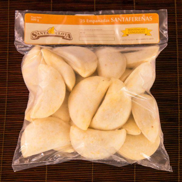 Empaque de las empanadas santafereñas Santa Clota
